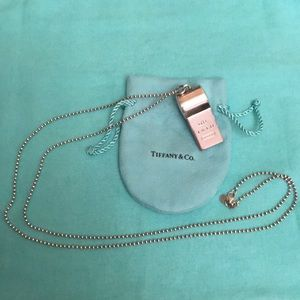 bd905437aec47 Tiffany Sterling Silver whistle necklace NWT